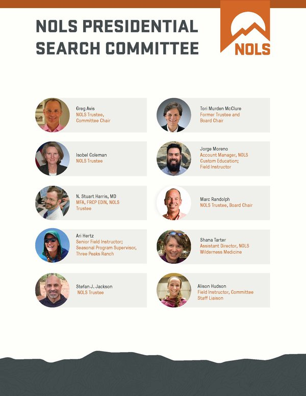 NOLS Presidential Search Committee - Revised June 5, 2019